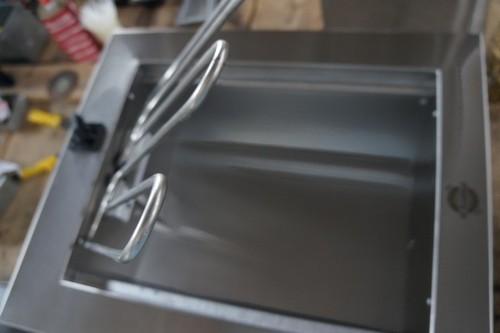 Churrasqueira cooktop elétrica de inox